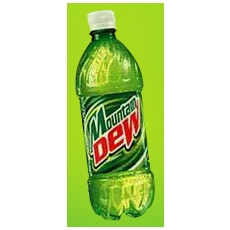 2 Liter Mountain Dew Bottle