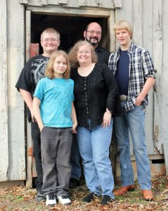 The Barfield Family, Pam, Richard, Luke, Logan, and Bradley.  James also lives in the household, but is not pictured.
