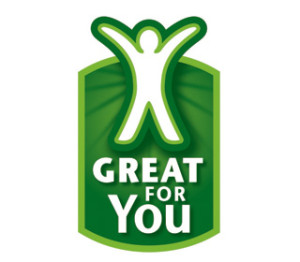 This is what the great for you logo looks like at Walmart
